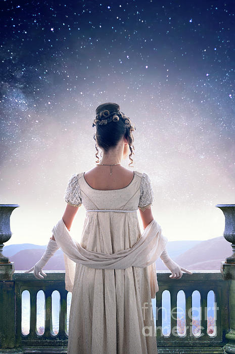 regency-woman-looking-at-the-stars-in-the-night-sky-lee-avison