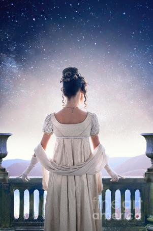 regency-woman-looking-at-the-stars-in-the-night-sky-lee-avison
