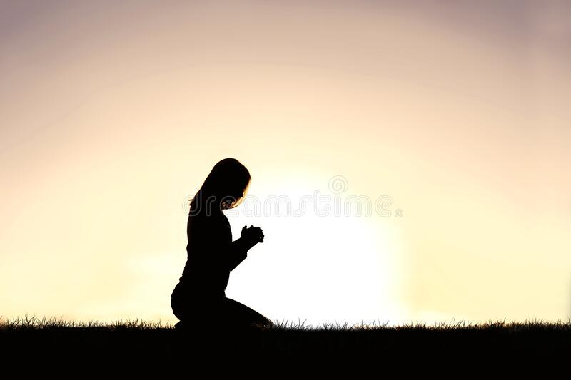 silhouette-young-christian-woman-kneeling-prayer-summer-day-young-christin-woman-praying-outside-sunset-181276693